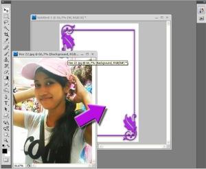 foto kedalam bingkai atau dengan cara tekan CTRL+ A pada file foto