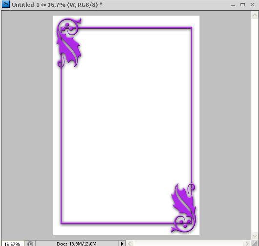 Membuat Bingkai dengan Photoshop » Hasil Bingkai Blending Option